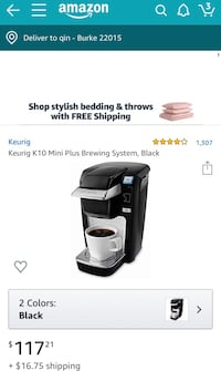 Keurig K10 Mini Plus Brewing System, Black  Keurig K10 Mini Plus Brewing System, Black 伯克, 22015