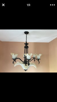 black and white uplight chandelier Cheney
