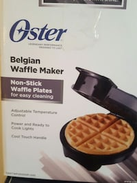 oster belgian waffle maker non-stick waffle plates box Montreal, H2G 2R4