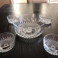 Brand New - Set Of 5 Glass Serving Bowls By Arcoroc France 546 km