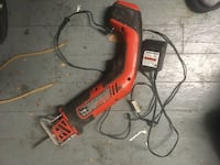 red and black Black & Decker corded hand tool Woodstock, 22664