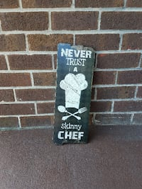 Never Trust a Skinny Chef Wood Picture SPRINGFIELD