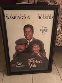 The Preacher's Wife poster with black frame