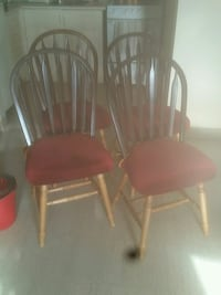 two brown wooden windsor chairs London, N5Y 4X1