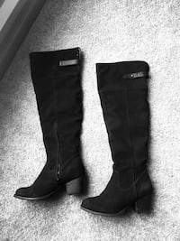 Winter suede boots