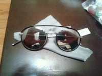 black framed aviator style sunglasses CD Toronto, M5B