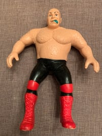 WWF LJN George The Animal Steele 1986 Rubber Wrestler Action Figure.