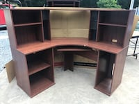 Brown corner desk 54in on both sides 51 in tall New Windsor, 21776