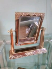 Enamelled brass mirror 12 inched  Burlington, L7R 3P8