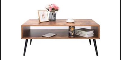 IWELL COFFEE TABLE WITH STORAGE SHELF FOR LIVING ROOM