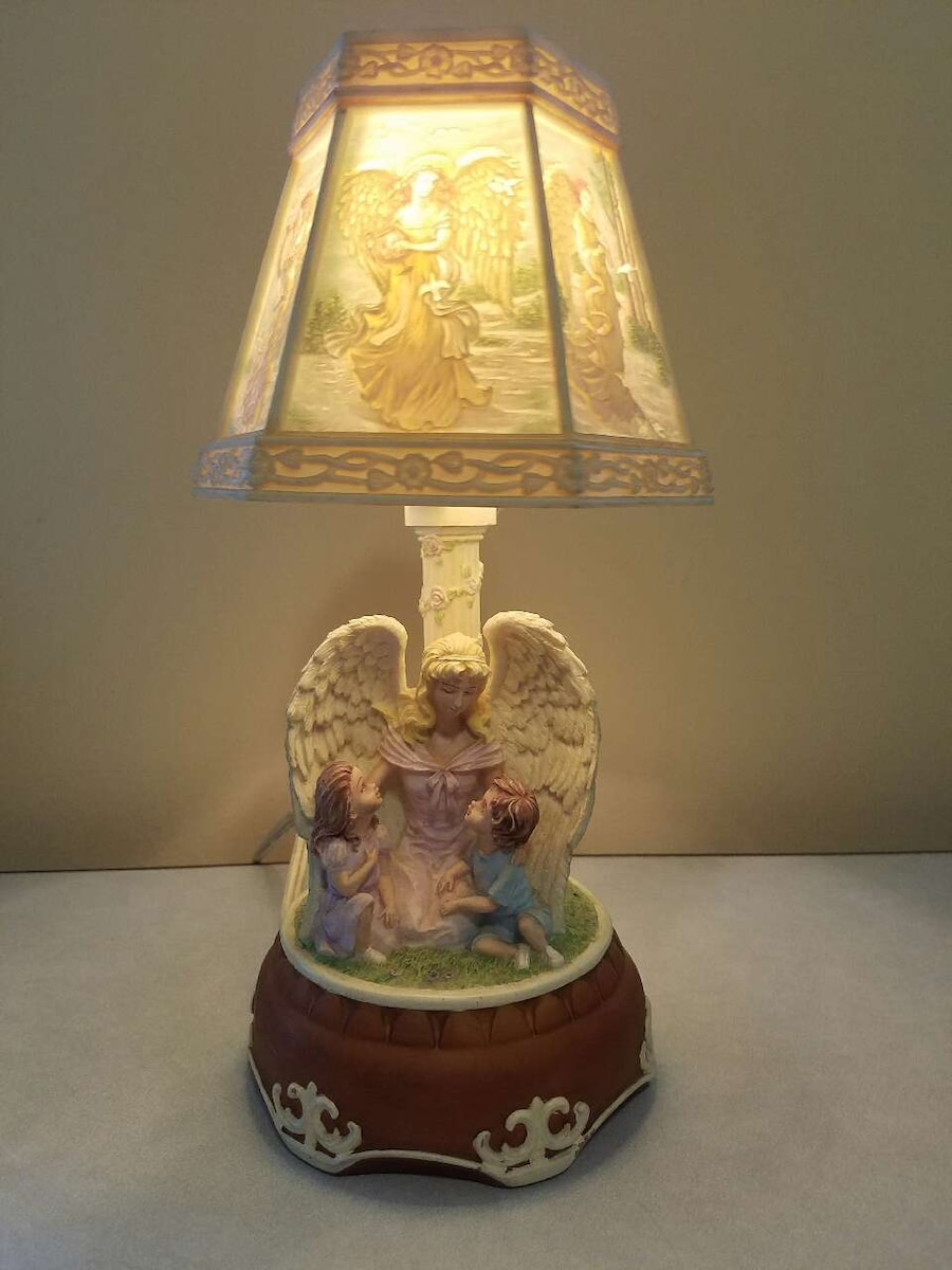 Superior Used Electric Angel Lamp And Music Box In Davenport