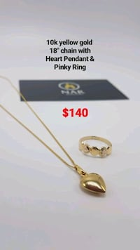 10k yellow gold chain, pendant and pinky ring  Toronto, M1K 1N8