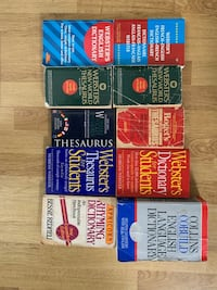 Lot of  dictionaries and thesaurus