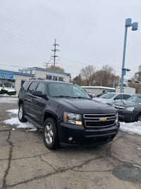 2007 BLACK CHEVROLET TAHOE 1500 4X4 SUV LEATHER TV 3RD ROW SLICK