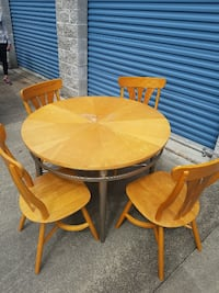 Pine table with 4 chairs SAVANNAH