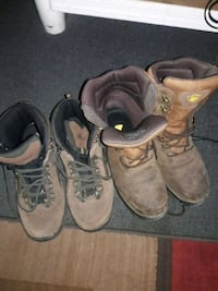 Two pairs of boots one hiking one work Tucson, 85711