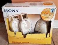 Sony 900MHz BabyCall Nursery Monitor with Two Receivers Brampton