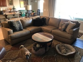 Craftsman leather sectional