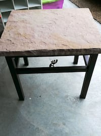 Canyonlands Stone top metal end table
