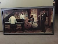 Jazz Framed Brushed Painting Saint Peters, 63376