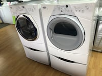 Whirlpool white washer and dryer set with pedestals Woodbridge, 22191