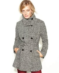 NEW Calvin Klein Womens Double-Breasted Pea Coat XXL Toronto