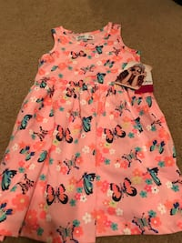 Pretty! New! Girls Size 5 Pink Butterfly Dress Gainesville, 20155