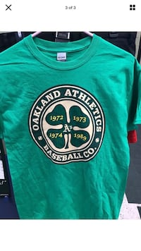 Oakland athletics irish heritage medium shirt