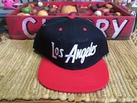 ** BRAND NEW** LOS ANGELES EMBROIDERED SNAPBACK CAP - BLACK / RED