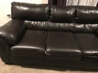 Sofa couch black  with love seat