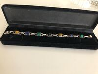 Sterling silver bracelet with real stones Milton, L9T 7A1
