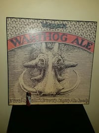 Warthog Ale big Rock wall sign/pictures Burnaby
