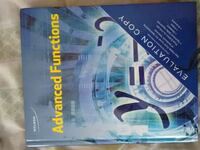 Brand New Advanced Functions Textbook Markham