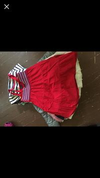 red and white stripe dress Omaha, 68110