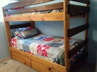 brown wooden bunk bed with mattresses Bothell, 98012