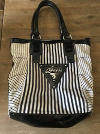 black and white striped tote bag Clarington, L1E