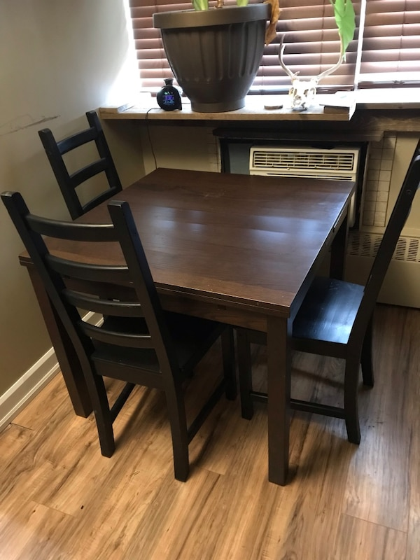 Used Ikea Table With 4 Chairs Good Condition Minor Wear And Tear 175 Obo For In Toronto Letgo