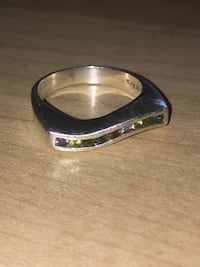 Rainbow Gemstone Sterling Silver Ring Cambridge, 02141