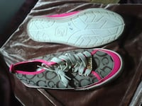 pair of gray-and-pink Coach sneakers Kitchener, N2G 2M3