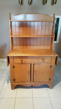 Vintage maple cupboard