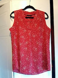 red and white floral sleeveless shirt London, N6G 4N6