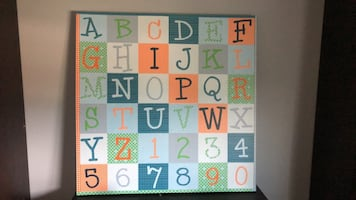 ABC CANVAS for kids room
