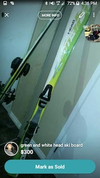yellow and white ski blades 3131 km