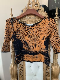 New Brown Angelica-Val Leopard Top