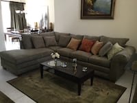Sectional living room set incl coffee table $650. Dinning room set , six chair and crudenes, table has sleeve to seat 8 people. Stool chairs $45 each. Contact Josie ( [PHONE NUMBER HIDDEN]  Miami, 33196