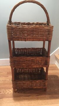 3 Tier  Pier 1  wicker basket - new with tag