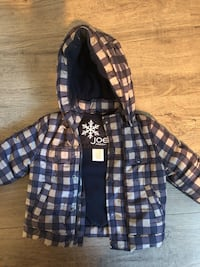 black and white plaid zip-up hoodie Surrey, V3T 1R5