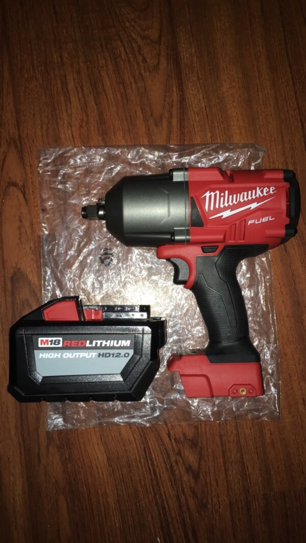 Used Milwaukee 1 2 Impact Wrench High Torque 2768 20 With 12 0 Demand Battery Pack For In New York Letgo