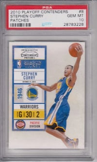 2010 Playoff Contenders Stephen Curry Patches PSA 10 Gem Mint