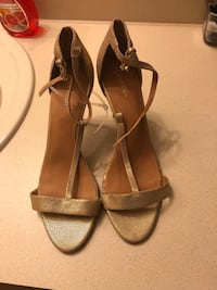 pair of brown leather open toe ankle strap sandals Davenport, 33897